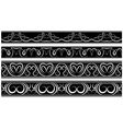 set of borders White pattern on black vector image vector image