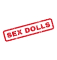 Sex Dolls Rubber Stamp vector image vector image
