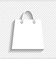 shopping bag white icon with vector image vector image