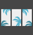 social media stories templates with palm leaves vector image