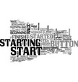 starting word cloud concept vector image vector image