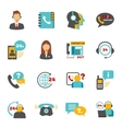 Support contact call center icons set vector image vector image