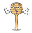 surprised honey spoon mascot cartoon vector image vector image