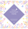 sweet pastel color background banner with copy vector image