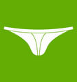 thongs icon green vector image vector image