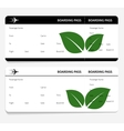 tickets leaves boarding pass vector image vector image