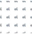 toy horse icon pattern seamless white background vector image vector image