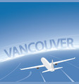 vancouver skyline flight destination vector image vector image