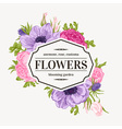 Vintage frame with summer flowers vector image vector image