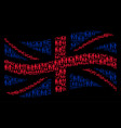 waving uk flag mosaic of family child items vector image