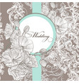 wedding invitation card in pastel color vector image