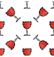 Wine flat pattern vector image