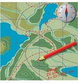 We draw on the map calculate the distance vector image
