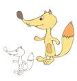 Cute cartoon fox vector image