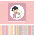 Sweet baby girl card vector image