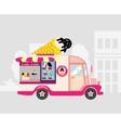 Ice cream car mobile shop vector image