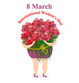 8 March International womens day Happy woman vector image vector image