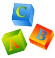 abc cubes vector image