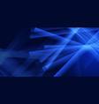 abstract blue banner design vector image vector image