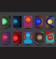 abstract circles design colorful cover set