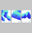 abstract design templates with 3d flow shapes vector image