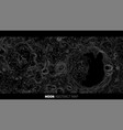 abstract moon relief map generated vector image vector image