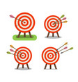 arrows and target standing on tripod purpose vector image vector image
