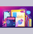audit service concept vector image