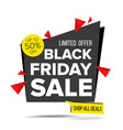 black friday sale banner advertising vector image vector image