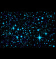 blue abstract background night sky with stars vector image vector image