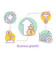 business growth concept icon vector image vector image