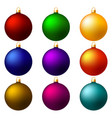 christmas balls decorations vector image