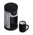 coffee maker icon isometric style vector image vector image