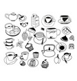collection of hand drawn sketches on the theme of vector image vector image