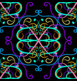 Colorful floral paisley seamless pattern hand