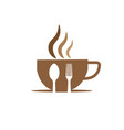 cup coffee and food logo designs vector image