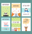 cute animals cards design templates with baby vector image vector image