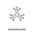 decentralized outline icon monochrome style vector image vector image
