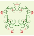 Delicate floral frame Ornament for design vector image vector image