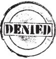 denied stamp vector image vector image