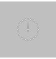 dial clock computer symbol vector image