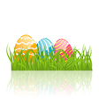 Easter background with paschal ornamental eggs vector image vector image
