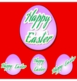 Easter set eggs vector image vector image