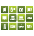 Flat Hi-tech technical equipment icons vector image vector image
