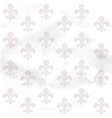 Fleur-de-lys seamless background on grange paper vector image