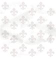 Fleur-de-lys seamless background on grange paper vector image