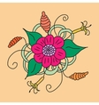 Floral hand drawn zentangle vector image