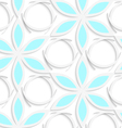 Floristic white and blue seamless vector image vector image