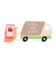 food delivery track vector image vector image