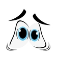 frightened cartoon eyes icon vector image vector image